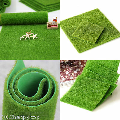 New Artifical Grass Fake Lawn Miniature Fairy Garden Orname Craft Decor 2 Size