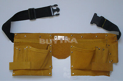 Useful  Faux Leather Pouch Tool Belt Holder Electrician Construction Carpenter