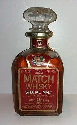 Whisky Match Special Malt 8 years , 3/4litro, anni 60.