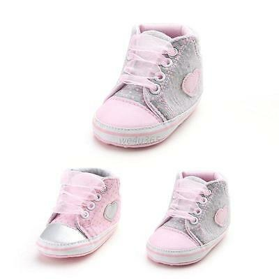 Toddler Baby Girls Sneakers Newborn Baby Crib Shoes Soft Sole Shoes 0-18Months