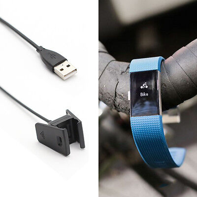 USB Charging Charger Cable Cord for Fitbit Charge 2 Bracelet Wristband New