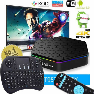 T95Z Plus S912 2GB+16GB Octa Core Android 6.0 TV Box 5Ghz WIFI+Wireless Keyboard
