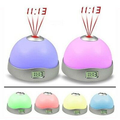 Color Change Projection Clock Time Projector Digital LED Clock Night Light Lamp