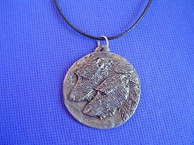 Scottish Deerhound Moon necklace #16N Pewter Dog Jewelry by Cindy A. Conter