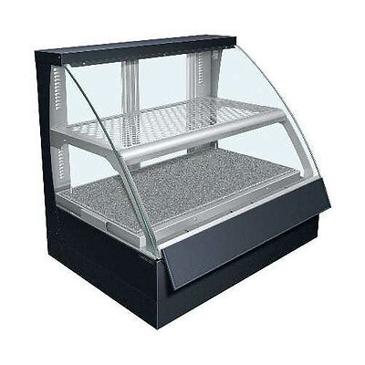 Hatco FSCD-2PD Countertop Convected Air Curved Display Case with Double Shelves