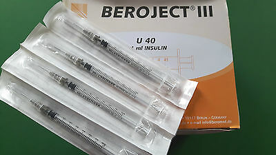 Sterile 1ml Beromed Hypodermic Syringes with 27G Needle –  Pack of 10