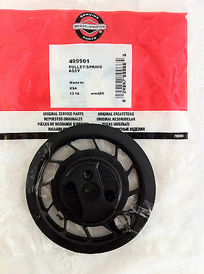 Genuine Briggs And Stratton Pulley/spring Assembly 499901 Recoil Pulley
