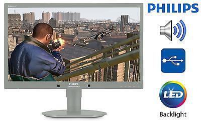 Philips 22 Inch 220B4LPYCG Monitor - LED Backlit LCD Monitor with Built-In