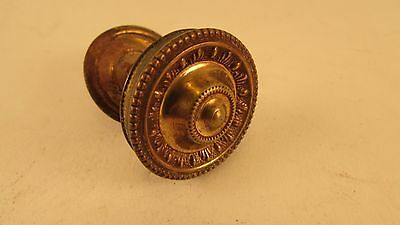 Antique, Brass drawer/cupboard Knob, with back plate. Re claimed condition.