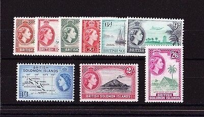 British Solomon Is.1963-64 Block Watermark Set Sg 103-111 Mnh.