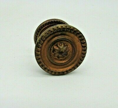 Antique, Brass drawer/cupboard Knob, with back plate. In Re claimed condition.