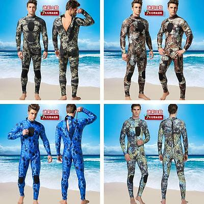 3mm Men's Neoprene Super Stretchy Diving Fullsuits Camo Camouflage spearfishing