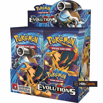 Pokemon XY-12 Evolutions Sealed Booster Box - 36 Packs - New Trading Cards 2016