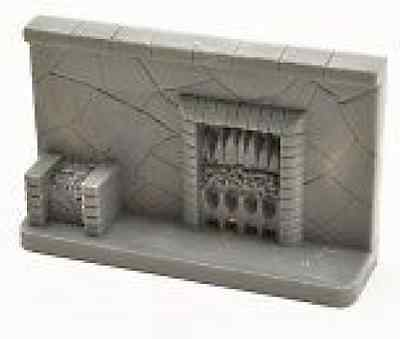 Dolls House Stone Effect Fireplace (Unpainted) Grey 47Mm High X 84 Mm Wide 1/16