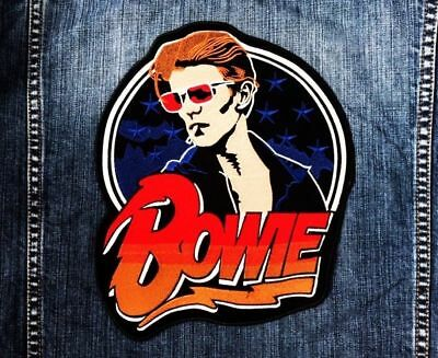 "New David ""Bowie"" Jumbo Size Iron On Patch Rock Band Embroidered"