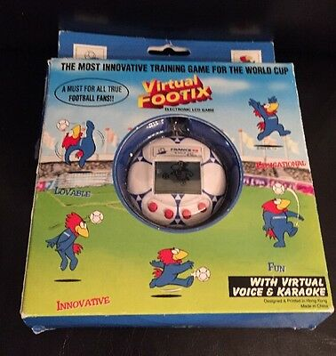 Rare 1998 France World Cup Virtual Footix Electronic Lcd Game