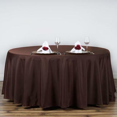 Chocolate 120 in. Polyester Seamless Tablecloth~Wedding~NEW