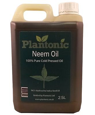 Neem Oil, 100% Pure & Natural Organic Cold Pressed Carrier Oil - 2.5 Litres