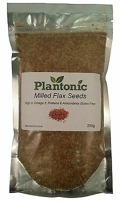 GROUND FLAXSEED - 250g | Linseed Milled Natural Raw Flax Seeds Lin Seeds