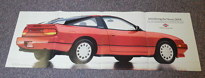 """1988 Nissan 240SX Vintage 11x31"""" Advertising Poster"""