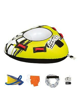 Jobe Thunder Package 1 Person Rider Inflatable Towable Tube Ski Boat Ringo Donut