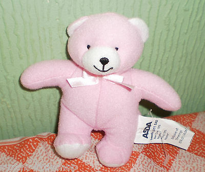 Asda Pink Little Cute Teddy Bear Plush Soft Toy