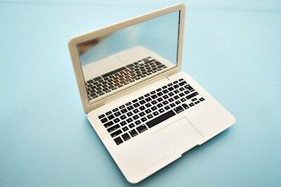 """White Laptop Computer - Perfect Size for American Girl Dolls & Kidz N Cats 18"""""""
