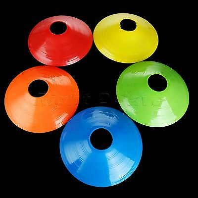 1/5PCS Cone Saucer Soccer Football Sports Training Disc Markers Fitness Exercise