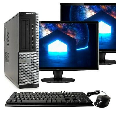"Dell Desktop Computer 16GB 2TB HD 512GB SSD Quad Core i5 Windows 10 PC 22"" LCD"