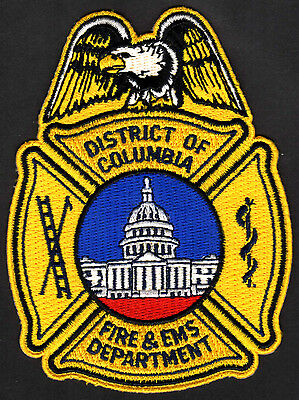 District Of Columbia Fire & EMS Department Patch Yellow/Eagle --  Washington DC