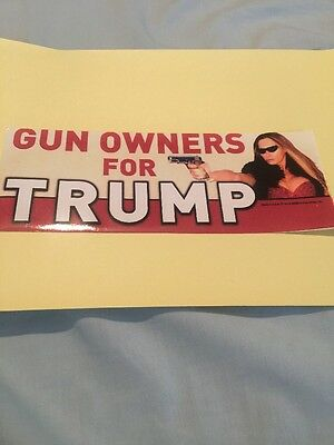 Gun Owners For Trump President Stickers  2016 2Nd Amendment