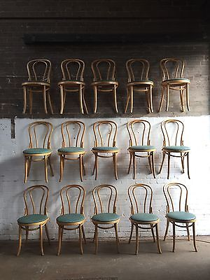 Vintage Bentwood Cafe Chairs - Blonde Beech  - Long Run Job Lot Of 39