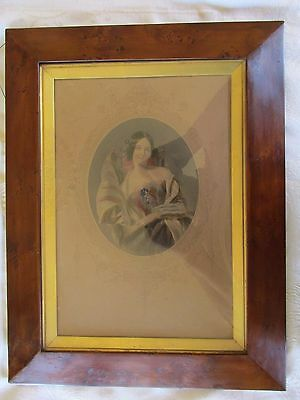 Antique Huon Pine Picture Frame Original Sticker Edwards Hobart Town Tasmania