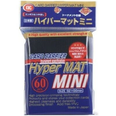 1 x KMC MINI HYPER MAT GREEN Card Barrier Protector Sleeves 60ct Fit Yugioh