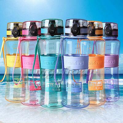Portable 500ML Water Bottle Hiking Cycling Water Drinking Bottle Cup BPA Free