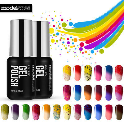 Modelones Thermal Changing Color UV Led Gel Nail Polish Soak Off Manicure 7ml