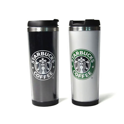 1PC Starbucks Double Wall Coffee Mug Tumbler Stainless Steel Travel Cups 14oz