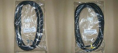Pair Door Weatherstrip Seal Rubber for 88-02 Isuzu TF TFR Rodeo Pickup UTE LUV