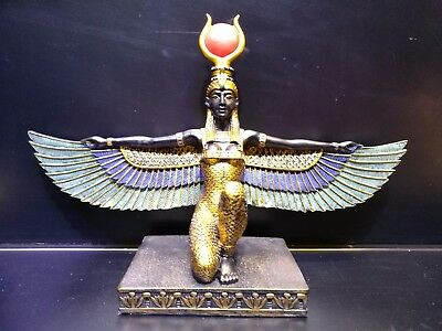 ISIS One of Gods of Ancient Egypt Collectible Ceramic Dolls in Beautiful Box.