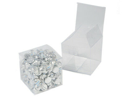 24 Clear Plastic Acetate Gift Boxes for Advent Calendars & Favors