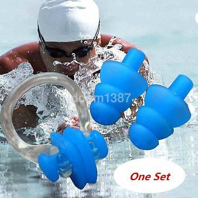 New For Kids Adults Diving Swimming Ear Plugs And Nose Clip Set With Box s