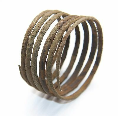 Ancient Old Spiral Bronze Small Hand Bracelet. Viking Age.