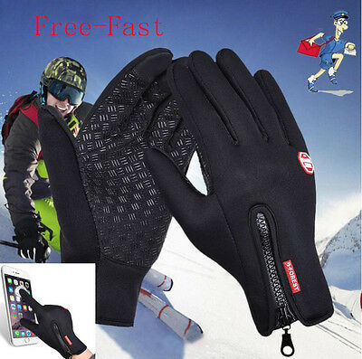 Cool Touch Screen Windproof Waterproof Outdoor Sport Gloves Unisex Winter gloves