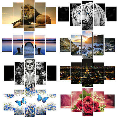 5PCS Huge Unframed Modern Oil Painting Art Canvas Print Picture Home Wall Decor