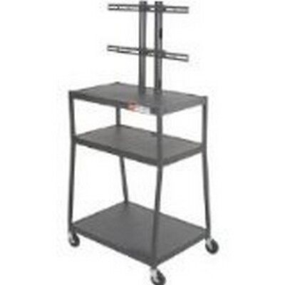Balt 27553 Wide Body Flat Panel Tv Cart With Cabinet, Black New