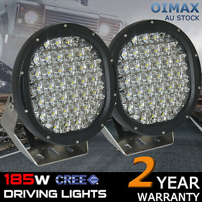 """Pair 9 INCH 185W 9"""" Cree Led Spot Work Driving Light LED Work Replace HID 180W"""