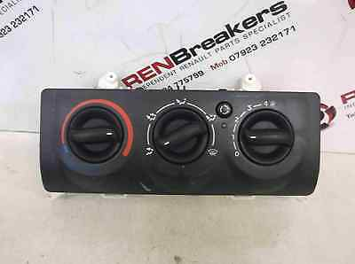 Renault Clio MK2 2001-2006 Heater Controls Switch No Air Con