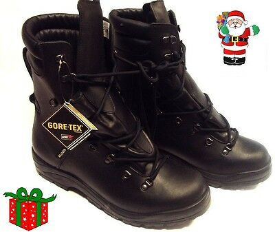CHRISTMAS! BRITISH ARMY EXTREME COLD WEATHER BLACK GORETEX BOOTS SIZE 14M kwb963