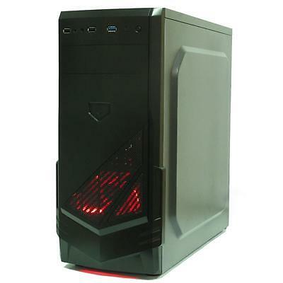 NEW! Cronus 18030 Atx Gaming Case With 12Cm Red Led Fan Usb3.0