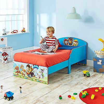 Paw Patrol Toddler Bed Blue & 3 Mattress Options Available Free P+P New Official